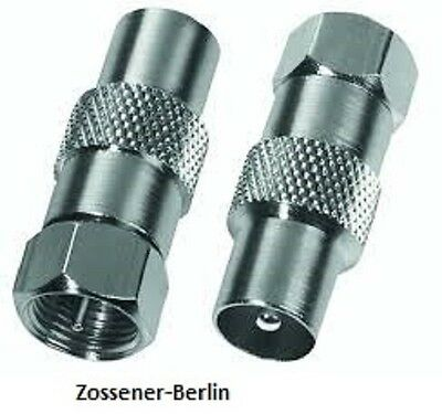 Chess F-Stecker<Koaxstecker~F-Stecker auf Koaxstecker