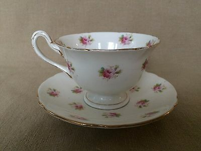 Gorgeous Shelley Late Foley Demitasse Cup & Saucer with  Roses #7447