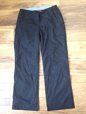 Mountain Warehouse Womens Black Trousers Size 10 . Ex.condition
