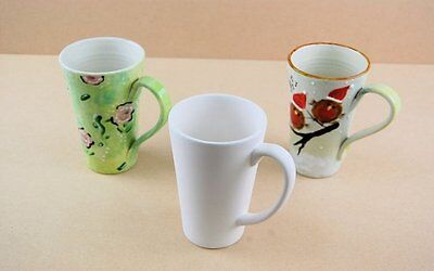 1 Ceramic Bisque Blank Large Latte Mug to Paint (Will combine postage)