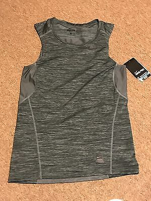 NIKE PRO HYPERCOOL Sleeveless Fitted Compression Shirt Gray Black 811390 013