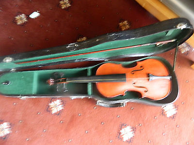 """Vintage 3./4"""" Size Violin,with Case And Bow"""