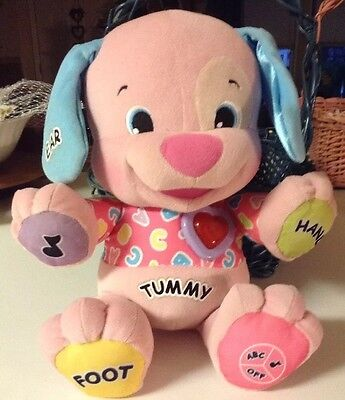 """Fisher Price 14"""" Laugh And Learn Interactive Singing Laughing Plush Puppy Dog"""