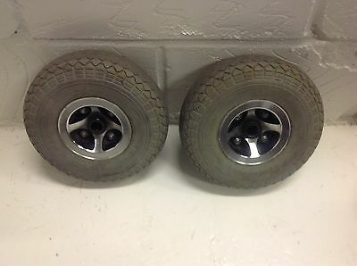 Mobility Scooter CTM Wheels and Tyres Back Pair Solid Tyres
