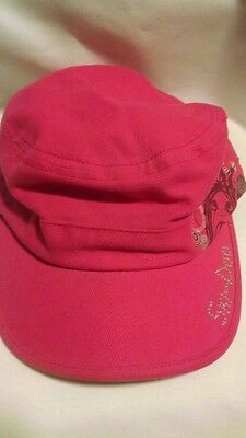 Ladies Pink Ski Doo Cap Hat Embellished BRP Snowmobile Bling Cotton