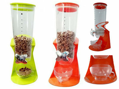 Single Cereal Dispenser Dry Food Container Oatmeal Nuts Kitchen Machine
