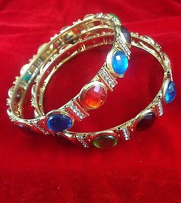 Gold Plated Indian Traditional Bangle Bracelet Bollywood Ethnic Bangles Jewelry