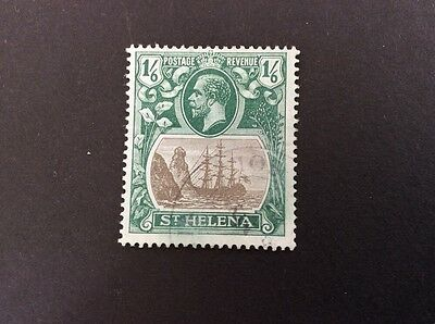 St. Helena George V 1/6 Green & Black Very Fine Use SG93 - c/v £70 In 2016