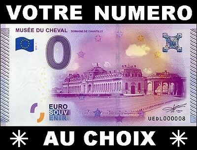 Billet Touristique €Uro Souvenir 2015 / Billet Souvenir Musee Cheval Chantilly