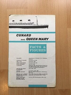 Rms Queen Mary.              Facts And Figures Pamphlet. Cunard