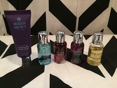 MIXED Lot of 5 BRAND NEW Molton Brown Body & Hair Samples