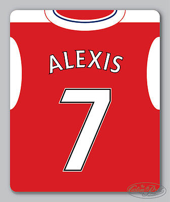 ARSENAL themed MOUSEMAT - mouse mat pad PERSONALISED 16/17 football kit style
