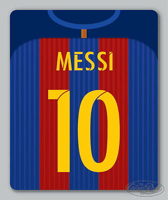 BARCELONA themed MOUSEMAT - mouse mat pad PERSONALISED 16/17 football kit style
