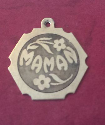 10k Yellow Gold Necklace Pendant Mom Maman In French