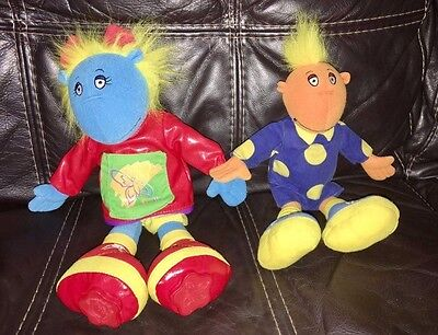 """TWEENIES 15"""" BELLA With Art Print Paint Stampers on Feet And 12"""" JAKE Soft Toys"""