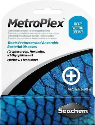 Seachem Metroplex Treats Protozoan Parasites & Bacterial Diseases 5 Gm/1 Oz