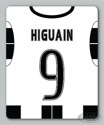 JUVENTUS themed MOUSEMAT - mouse mat pad PERSONALISED 16/17 football shirt style