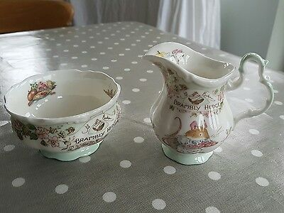 Royal Doulton Brambly Hedge tea service sugar bowl and milk jug