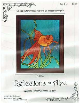 Large 1985 Goldfish Panel OOP Stained Glass Pattern - Alee Soderman - Last one!
