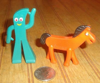 "Vintage JESCO Gumby and Pokey 2.75"" Rubber Toy Figures"