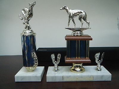 2 x GREYHOUND TROPHIES