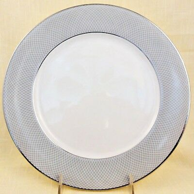 "GREY DAWN PLATINUM Block LUNCHEON PLATE 9.75"" diameter NEW NEVER USED Portugal"
