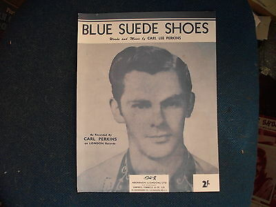 CARL PERKINS/CHARLIE FEATHERS - Blue Suede Shoes    Repro  Sheet Music
