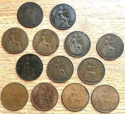 One Penny Coin Collection (13 Coins)