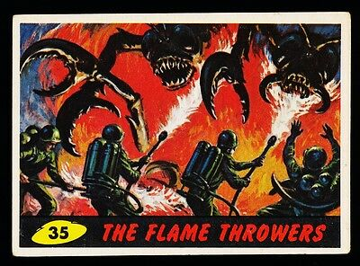 1962 Topps Mars Attacks Card # 35~ The Flame Throwers ~ Vg-Ex