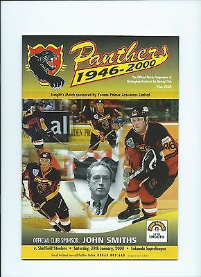 99/00 Nottingham Panthers v Sheffield Steelers   Jan 29th Mint