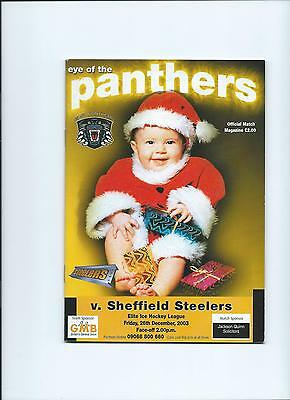03/04 Nottingham Panthers v Sheffield Steelers   Dec 26th