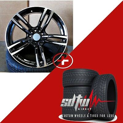 """20"""" Wheels w Tires fits BMW 5 6 Series M6 Sport Style 437 in Black Machined Rims"""