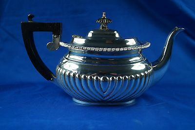 1897 Solid Silver Teapot By Maker George Nathan And Ridley Hughes 463G