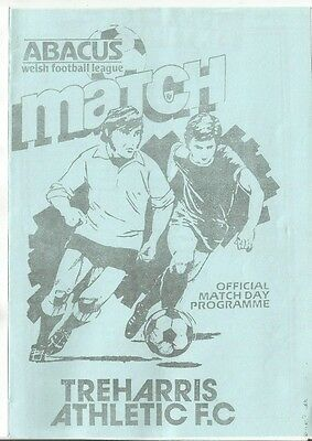 TREHARRIS ATHLETIC v CARDIFF CITY  1984/85 SWSC