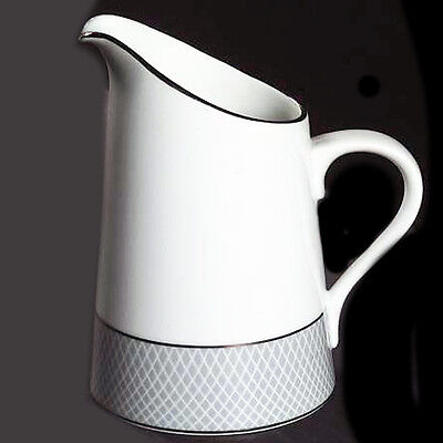 "GREY DAWN PLATINUM by Block Spal Creamer 5"" tall NEW NEVER USED made in Portugal"