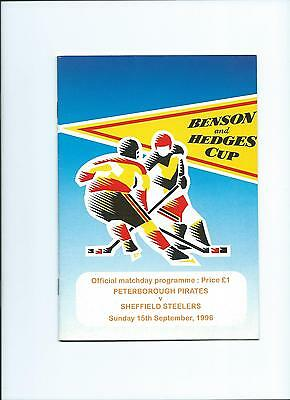 96/97 Peterborough Pirates v Sheffield Steelers  Sept 15th B and H
