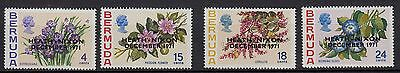 U88) x4 TIMBRES stamps (Neuf**MNH TBE) BERMUDA BERMUDES Fleurs Flowers