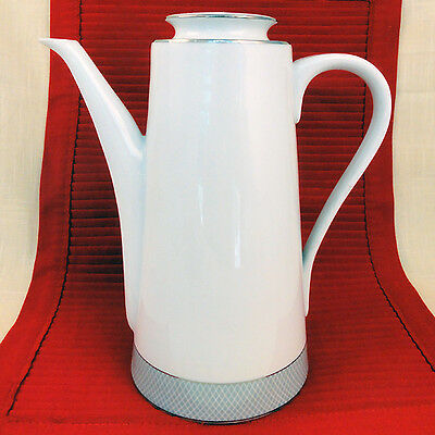 "GREY DAWN PLATINUM Block COFFEE POT 9.25"" tall NEW NEVER USED made in Portugal"