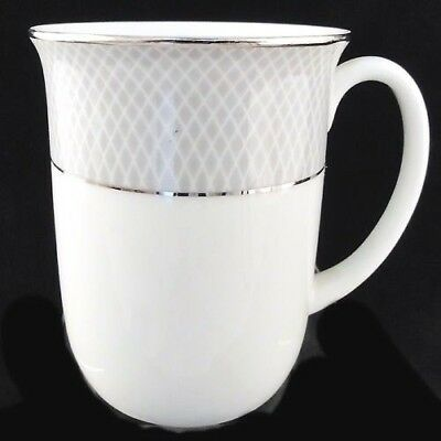 "GREY DAWN PLATINUM Block MUG 3.75"" tall NEW NEVER USED made in Portugal"