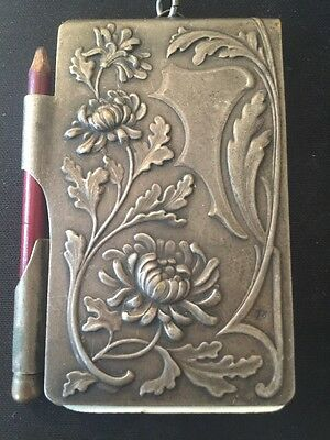 Vintage Silver Religious Mary Flowered Note Book
