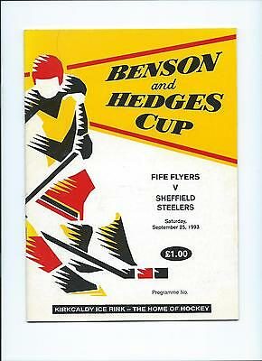 93/94 Fife Flyers v Sheffield Steelers  B and H Cup Sept 25th