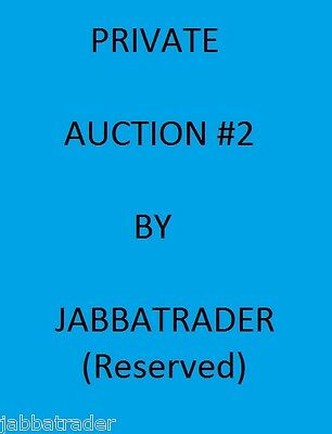 PRIVATE AUCTION#2 RESERVE Contact Me First if Unsure TOPPS STAR WARS CARD TRADER