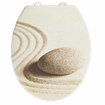 Wenko Duroplast Scratch Resistant High Quality Cream Toilet Seat -Sand and Stone
