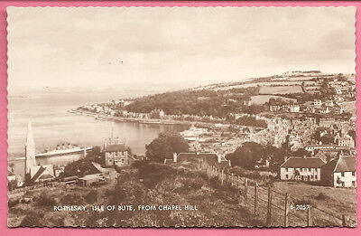 Rothesay, Isle of Bute, from Chapel Hill, Scotland postcard. RP. Valentiines