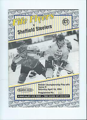93/94 Fife Flyers v Sheffield Steelers  April 16th Play Off