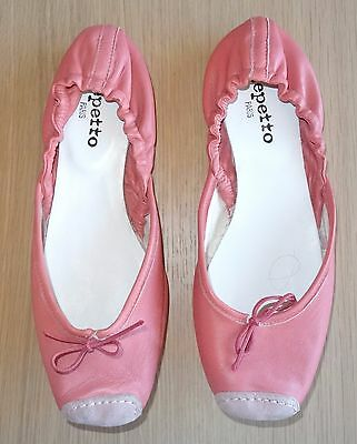Ballerines Repetto En Cuir Rose P40