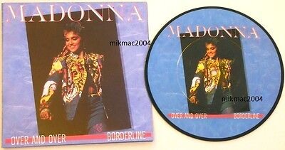 "MADONNA OVER AND OVER 7"" PIC DISC with FOLDOUT POSTER SLEEVE ITALY PICTURE"