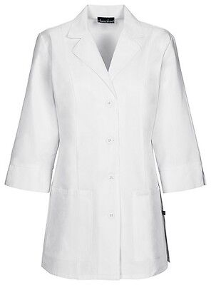 """Cherokee 30"""" 3/4 Sleeve Lab Coat Antimicrobial 1470A WHTD White Free Shipping"""