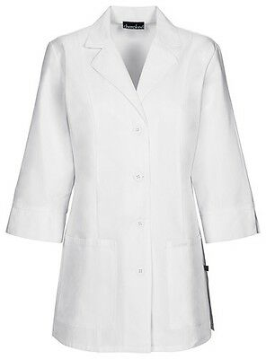 "Cherokee 30"" 3/4 Sleeve Lab Coat 1470 WHT White Free Shipping"