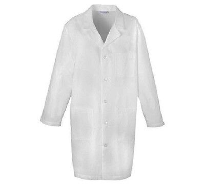 "Cherokee Med-Man 40"" Men's Lab Coat 1388 WHT White Free Shipping"